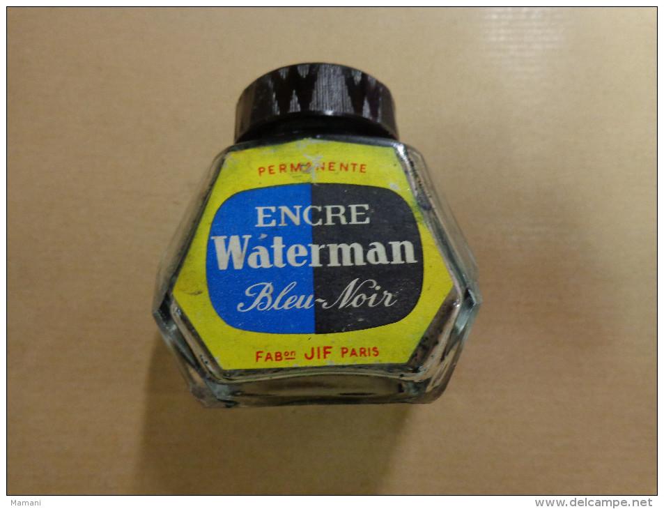 Bouteille Encre Waterman Bleu Noir.- - Non Classés