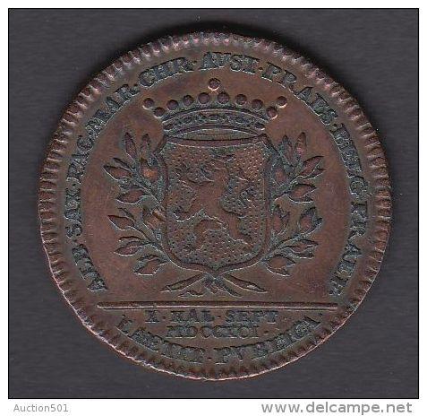 M01771 LEOPOLD II NAMUR COMTE De FLANDRE PAYS-BAS AUTRICHIEN 1791 - Son Profil (13.3g) Blason Au Revers - Royaux/De Noblesse
