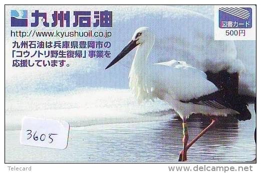 Telecarte Japon OISEAU (3605)    BIRD * JAPAN Phonecard * Vogel TELEFONKARTE - Songbirds & Tree Dwellers