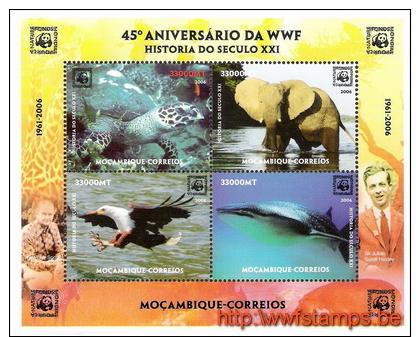 """50% DISCOUNT WWF - MOZAMBIQUE - 2006 - Miniature Sheet - Miniature Sheet - 4on1"" - Ohne Zuordnung"