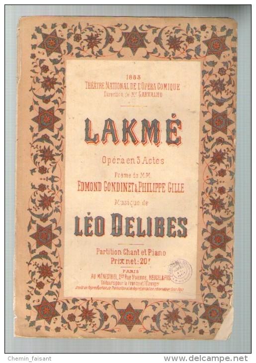 1883 Programme THÉÂTRE NATIONAL DE L'OPÉRA COMIQUE - Lakmé - Programmes