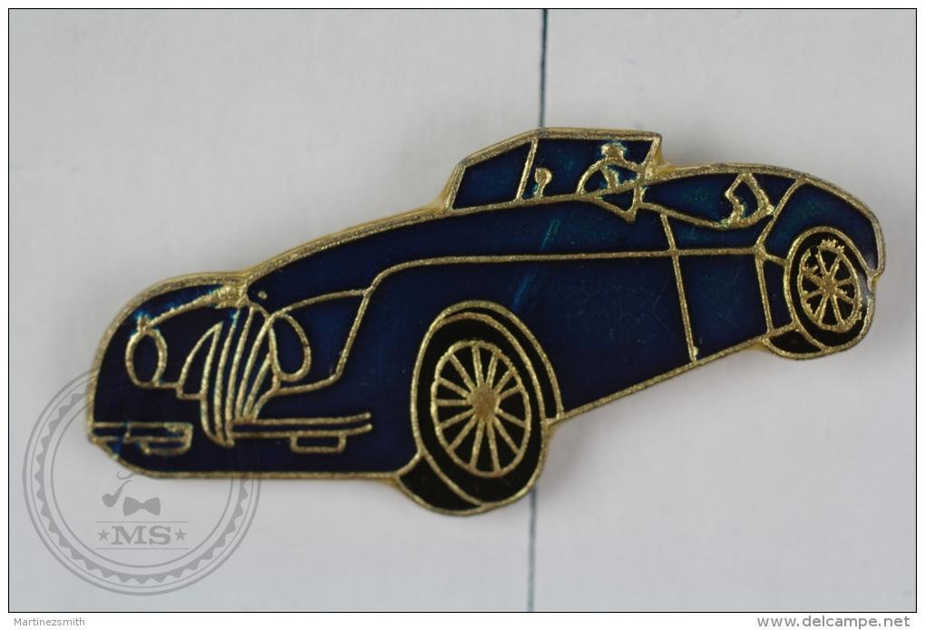 Old Classic Coupe Car, Blue Colour - Pin Badge #PLS - Otros