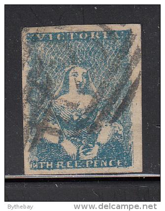 Victoria Used Scott #4 3p Victoria, Type II - 1850-1912 Victoria
