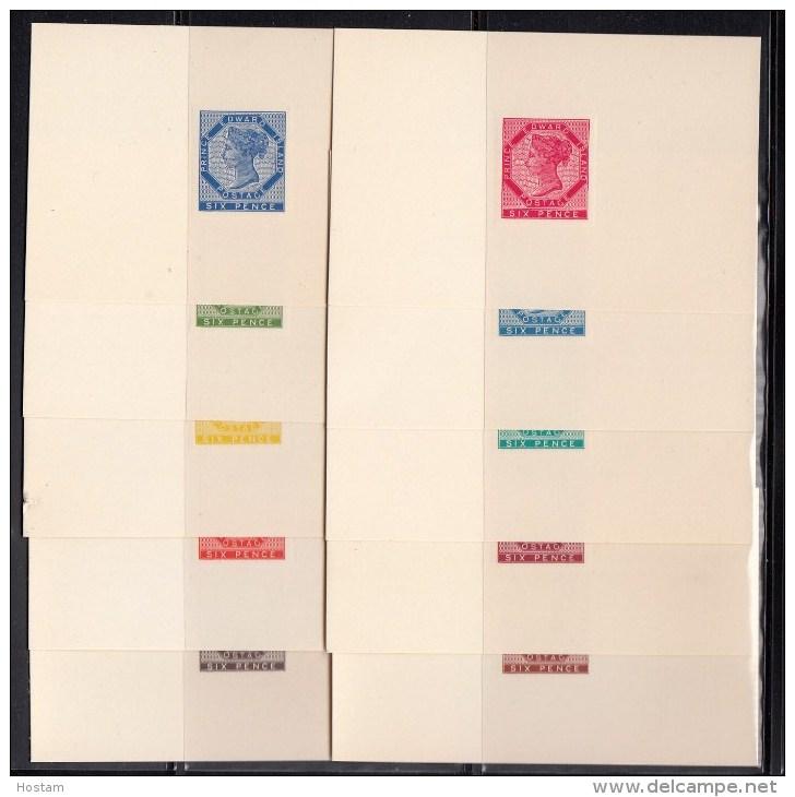 PRINCE EDWARD ISLAND, 1862 6d QV Die Proof Reprints (x10), VF On Cards,  CATALOGUE VALUE  $300 - Prince Edouard (Ile)