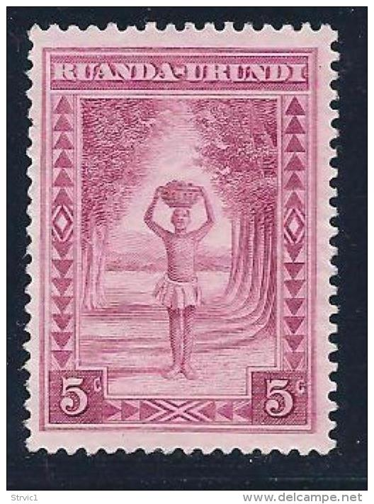 Ruanda-Urundi, Scott # 37 Unused No Gum Porter,1938 - 1924-44: Mint/hinged