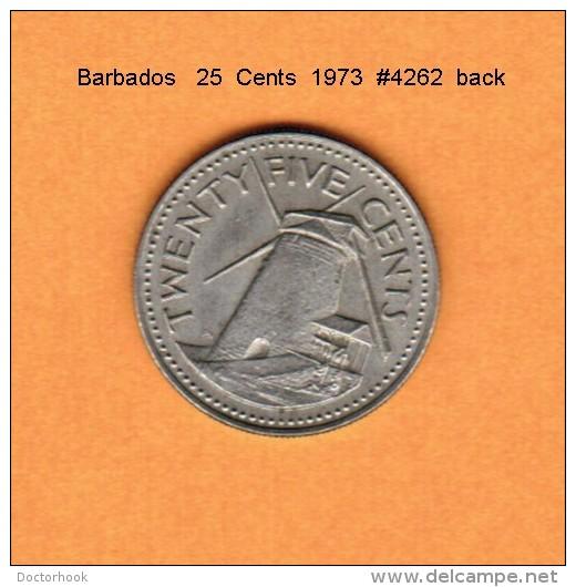 BARBADOS   25  CENTS  1973 (KM # 13) - Barbades