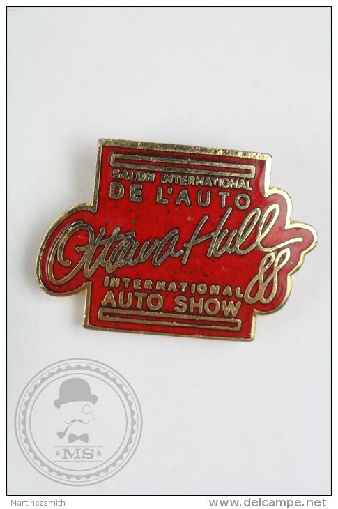 Ottawa Hull International Auto Show 1988 - Pin Badge #PLS - Otros