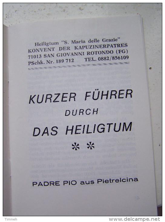 KURZER FÜHRER DURCH HEILIGTUM PADRE PIO AUS PIETRELCINA KAPUZINENPATRES - Christianisme