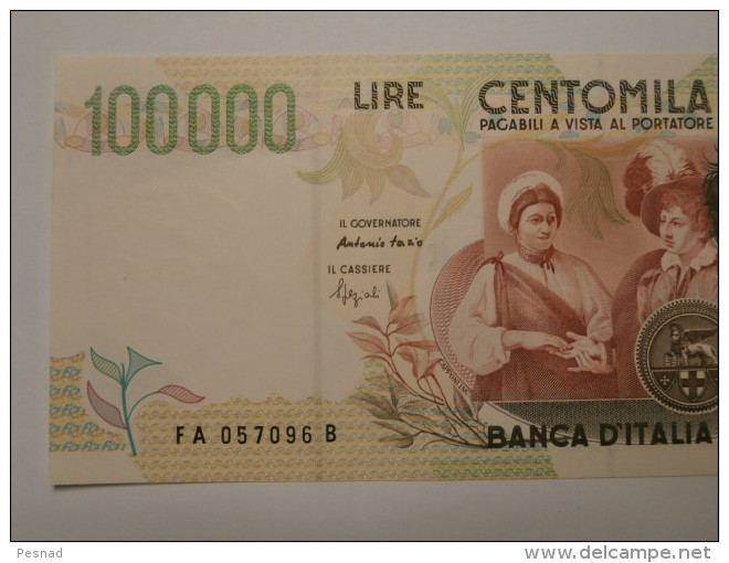 """100.000 Lire  """" Caravaggio """"  II° Tipo   D.M. 12-05-1994 -  B.I. 931  FDS - [ 2] 1946-… : République"""