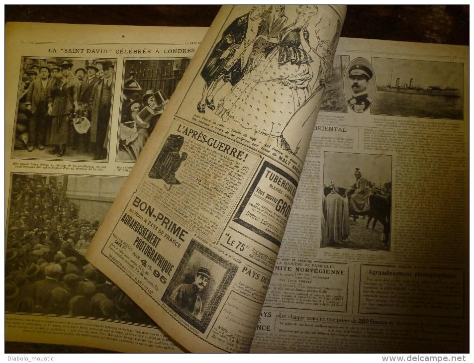 1917 LPDF: Graves évènements De RUSSIE (Révolution);Bezonveaux; Canadiens à L'ANCRE ;Anglais à BAGDAD; St-David (LONDON) - Français