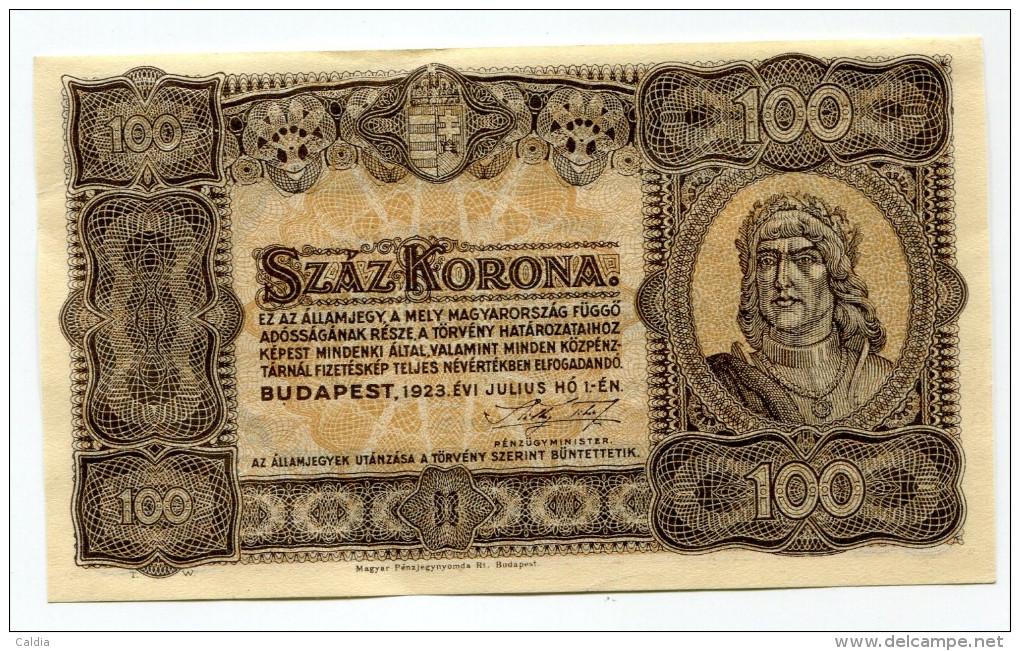 Hongrie Hungary Ungarn 100 Korona 1923 XF - Hongrie