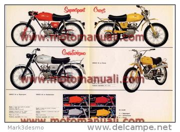 Moto Guzzi Dingo 50 Produzione 1968 Depliant Originale Factory Original Brochure - Motoren