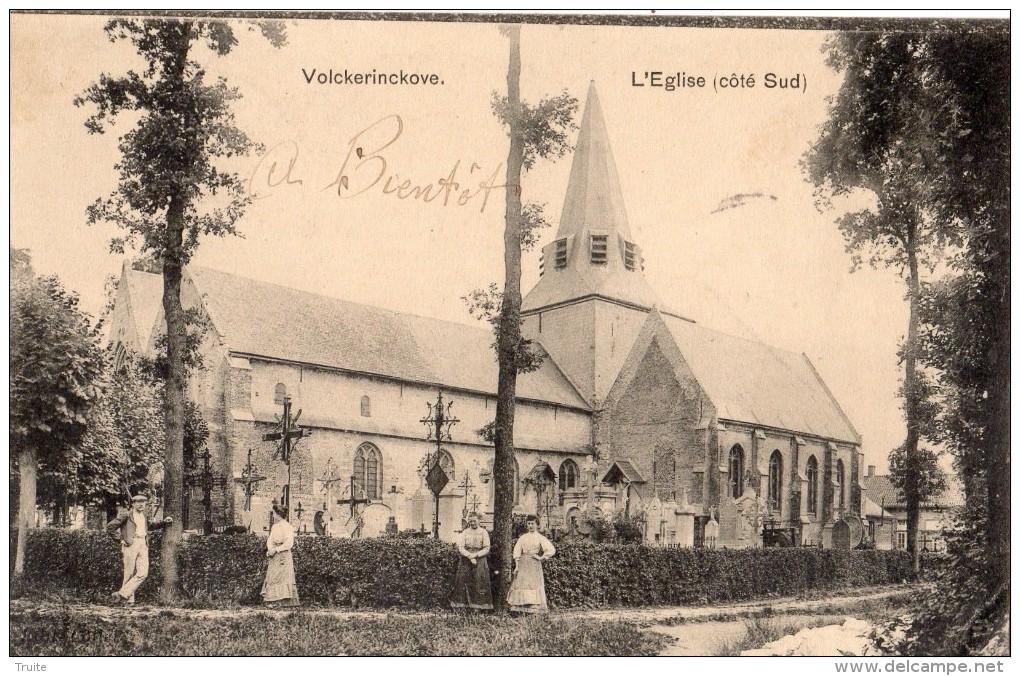 VOLCKERINCKOVE L´EGLISE (COTE SUD) ANIMEE - Francia