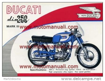 Ducati 250 DIANA MK 3 4V 1964 Depliant Originale Factory Original Brochure - Motoren