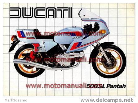 Ducati 500 SL PANTAH 1981 Depliant Originale Factory Original Brochure - Engines