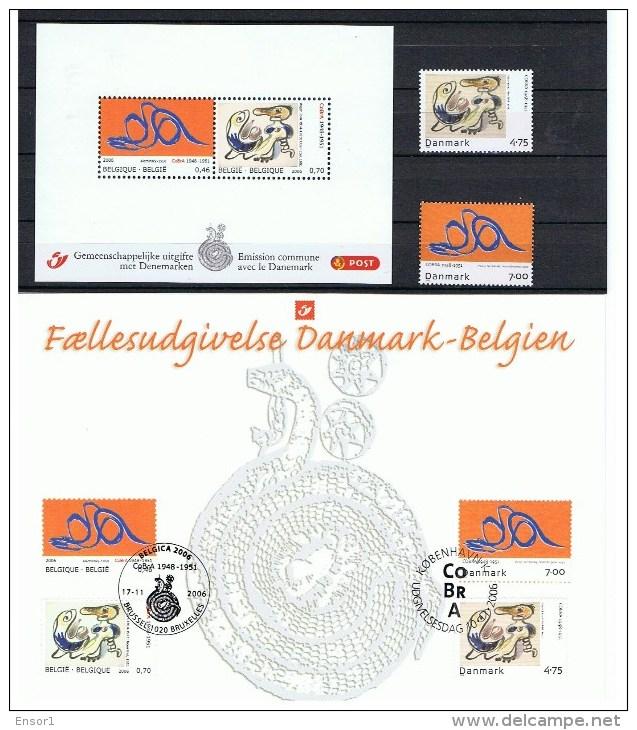 België 2006 Gemeenschappelijke Uitgifte Denemarken Alechinsky Belgica Kopenhagen - Cartas Commemorativas