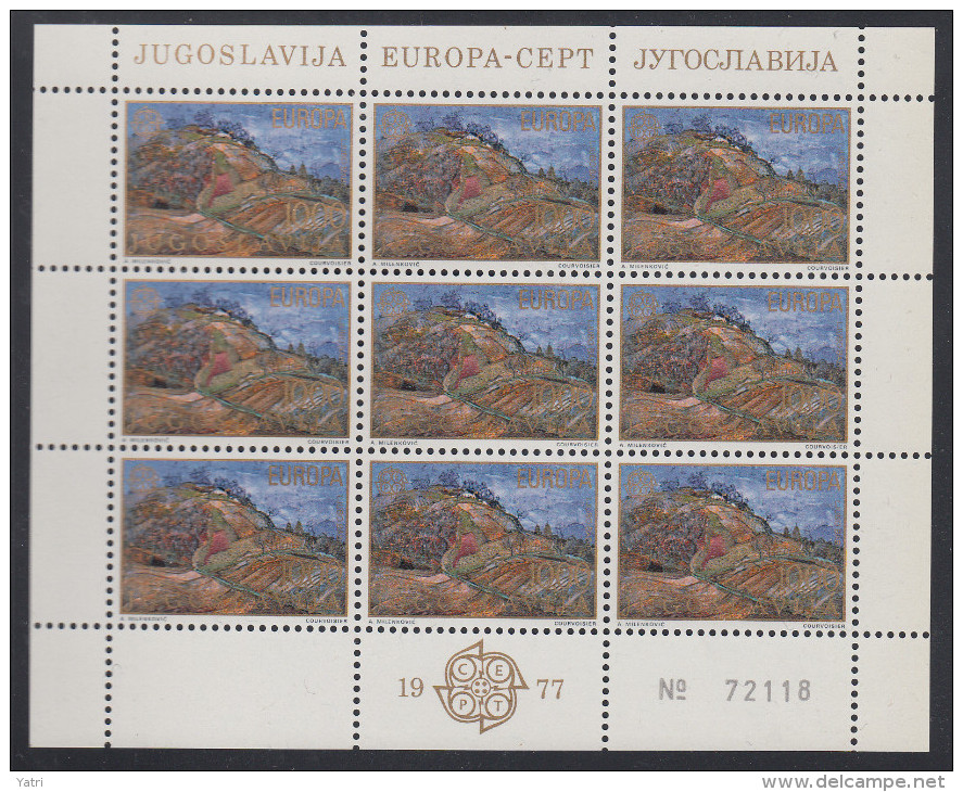 Jugoslavia - CEPT (1977) ** - Europa-CEPT