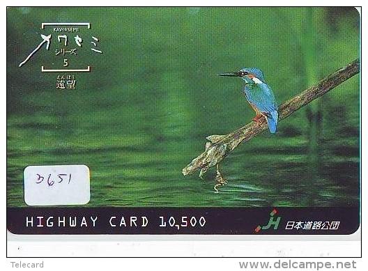 Telecarte Japon OISEAU (3651) MARTIN PECHEUR * KINGFISHER  * Phonecard Japan * BIRD * TK EISVOGEL - Birds
