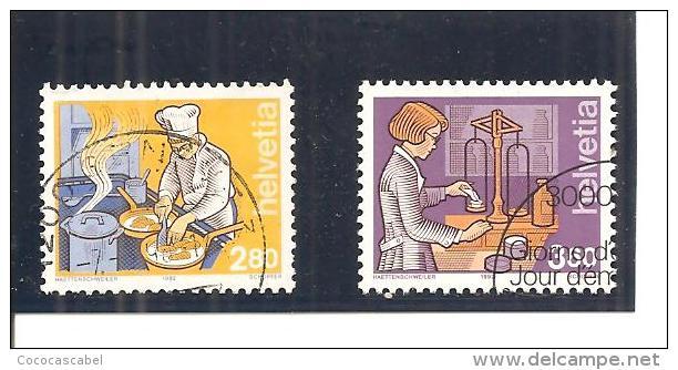 Suiza-Switzerland  Nº Yvert  1391-92  (usado) (o). - Usados