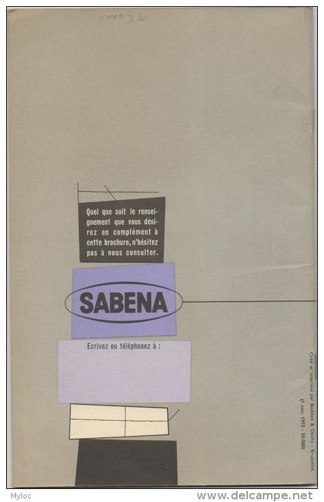 Brochure Publicité. Sabena. Pourquoi Et Comment Expédier Par Avion. - Publicités
