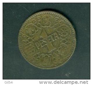 Espagne    1  PESETA Alu-bronze 1944   Peib6407 - 1 Peseta