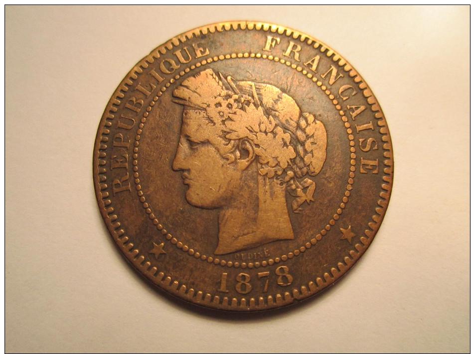 1878 K - 10 CENTIMES CERES - Francia