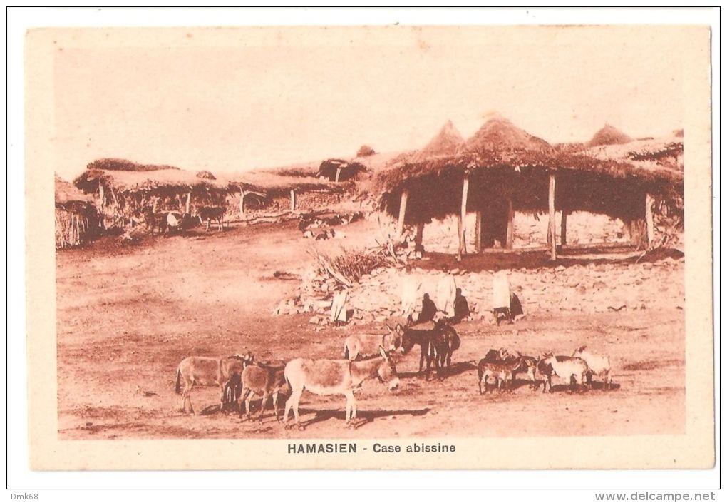 AFRICA  - ERITREA -  HAMASIEN - ASMARA - ABYSSINIAN HOUSES - EDIT SCOZZI 1920s - Eritrea