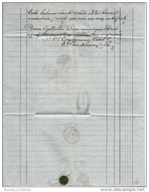 ENTETE TH. CHRISTMANN MULHOUSE FABRICANT DE BALANCES AJUSTEUR DE POIDS REPARATEUR 1867 T.B.E V.DESCRIPT.HIST.+ SCANS - France