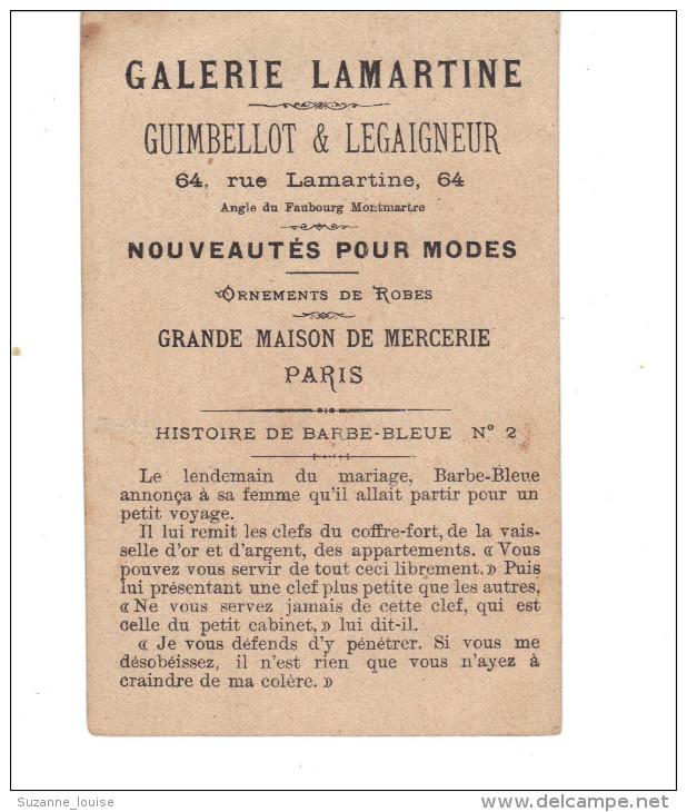 Chromo  Ancien.   Histoire De Barbe Bleue  N° 2 .  Galerie LAMARTINE  PARIS Mercerie - Autres