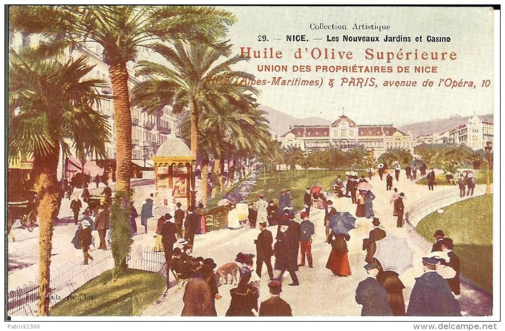 CPA  Huile D'olive Supérieure, NICE, Les Nouveaux Jardins Et Casino 1573 - Pubblicitari