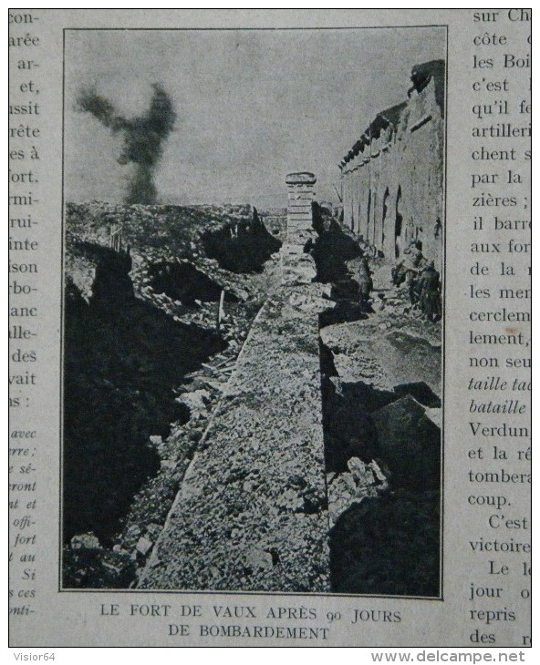 178 179 - Histoire Illustrée Guerre 1914 –Bataille Verdun (suite)-Bataille De La Somme-Ruines Village De Bras-Maricourt - Zeitungen & Zeitschriften