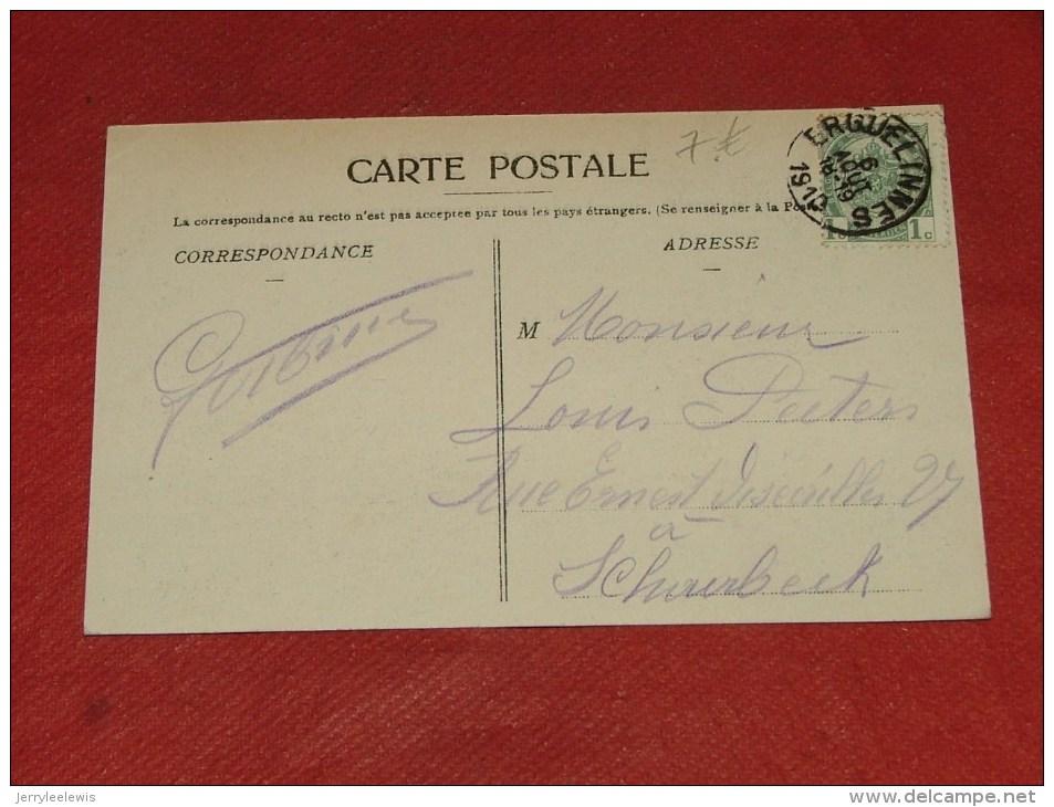 ERQUELINNES  -  La Gare     -  1910   -  (2 Scans) - Erquelinnes
