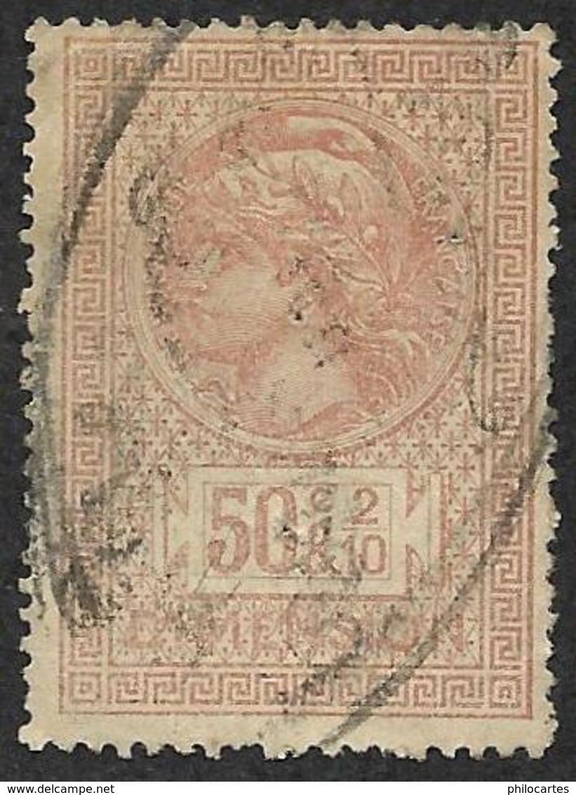 Timbre Fiscal  1891  - Dimensions N° 52 - Oblitéré  GC 2645 - Fiscaux