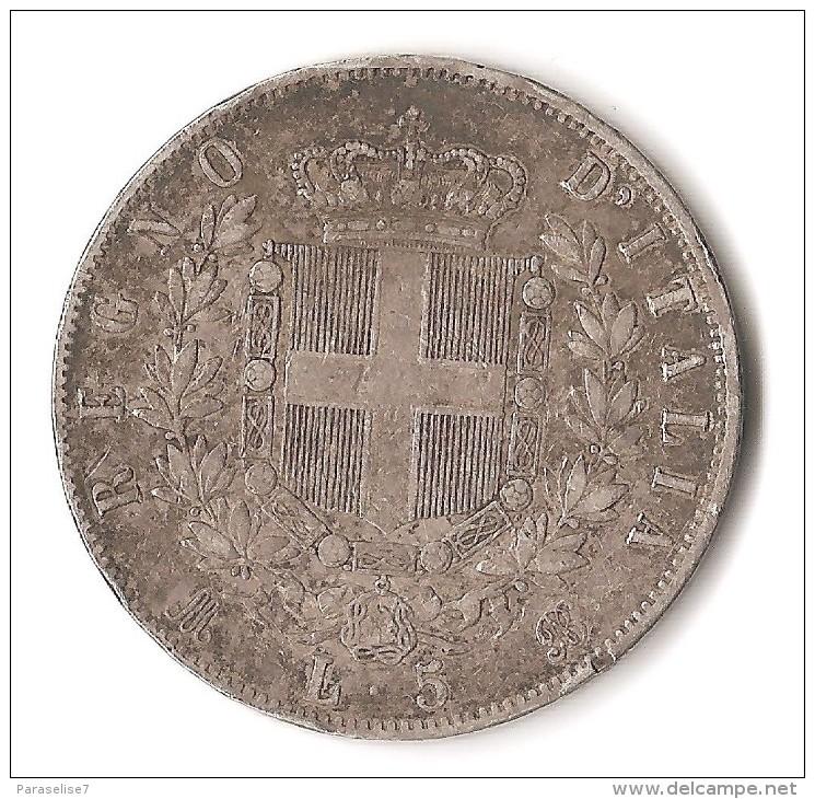 ITALIE 5 LIRE 1872 ARGENT - 1861-1946 : Kingdom