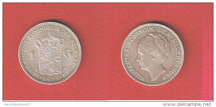 PAYS BAS  //   1  GULDEN 1923  // KM # 161.1 //  1 GRIFFURE VISAGE SINON SUP - [ 3] 1815-… : Kingdom Of The Netherlands