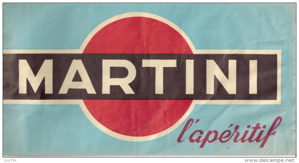 Chapeau Publicitaire En Papier  MARTINI - Casquettes & Bobs