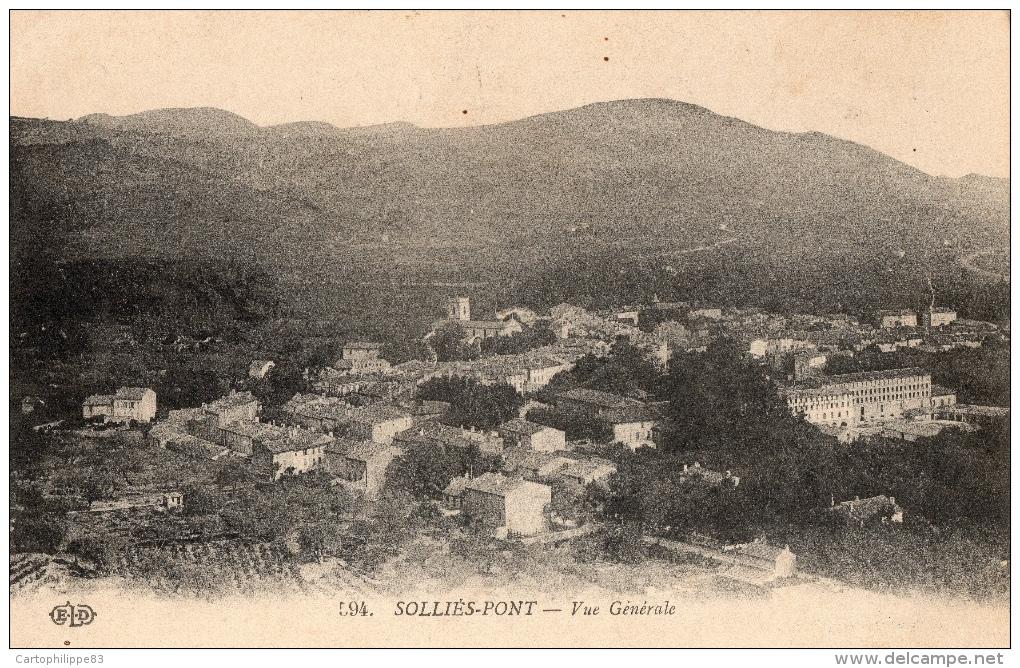 VAR 83 SOLLIES PONT VUE GENERALE - Sollies Pont