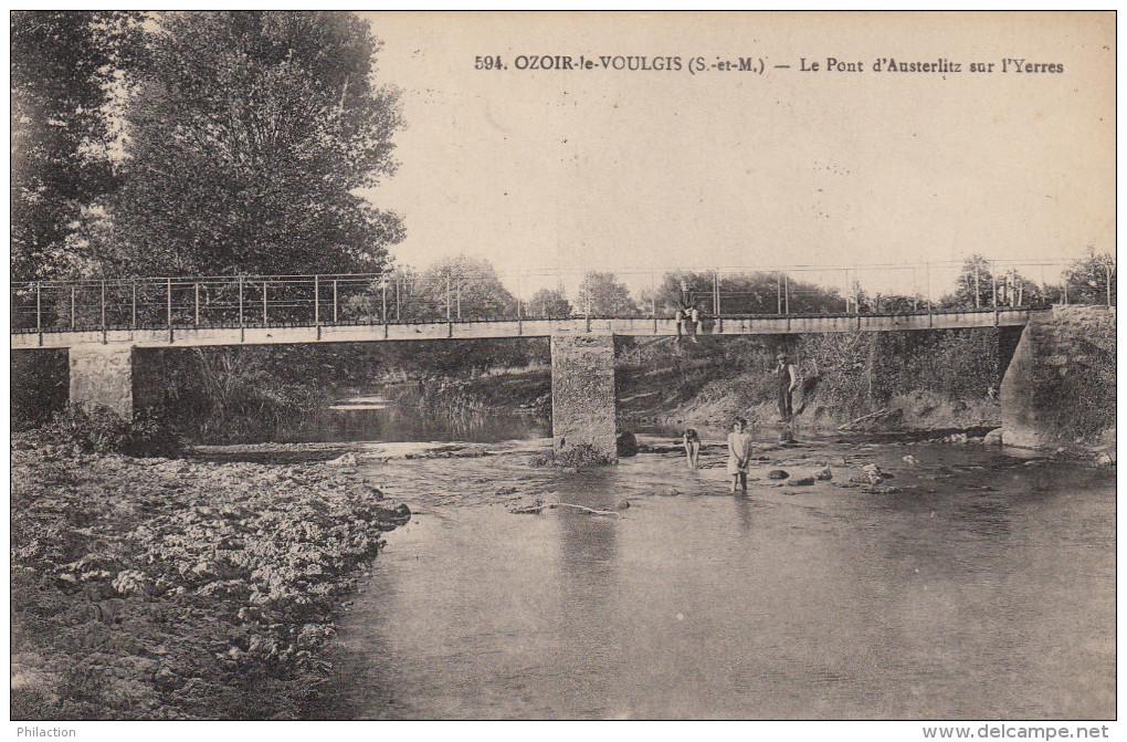 CPA 77 Ozouer Le Voulgis - Le Pont D'austerlitz Sur L'yerres - Altri Comuni