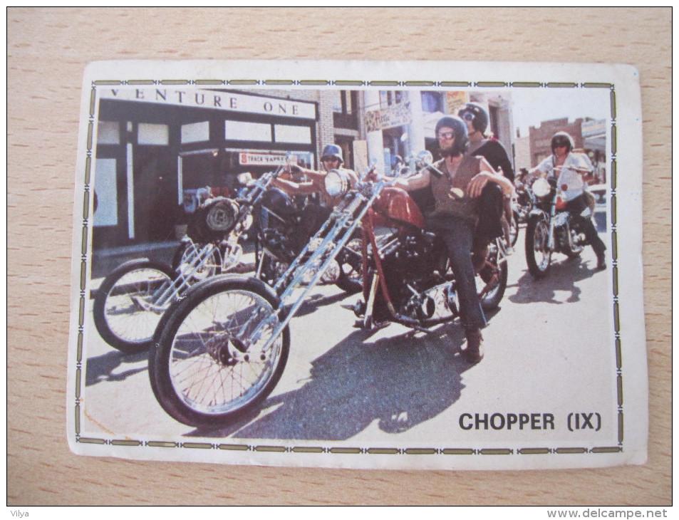 MOTO CHOPPER FIGURINE PANINI N° 197 - Edition Française