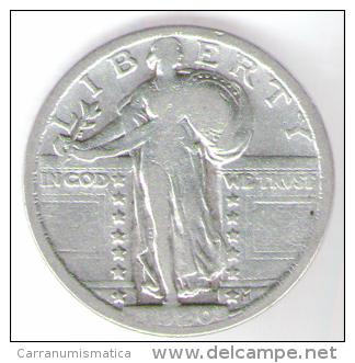 U.S.A. - STATI UNITI D' AMERICA - QUARTER DOLLAR ( 1924 ) STANDING LIBERTY - SILVER - Emissioni Federali
