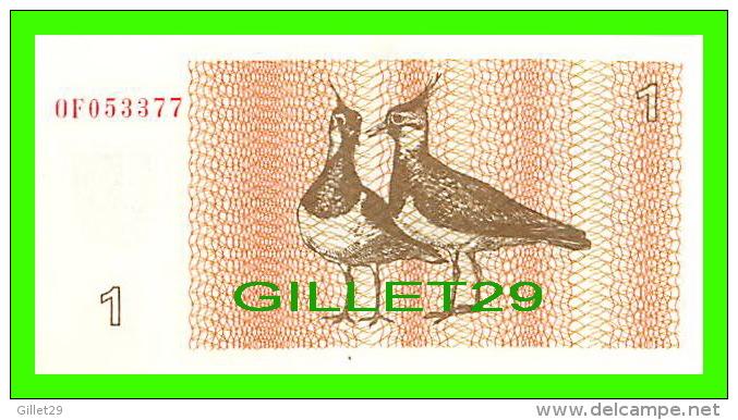 BILLETS DE LITUANIE -  LIETUVOS RESPUBLIKA TALONAS 1 - 1992 - No OF053377 - JAMAIS ÉTÉ UTILISÉE - - Lithuania