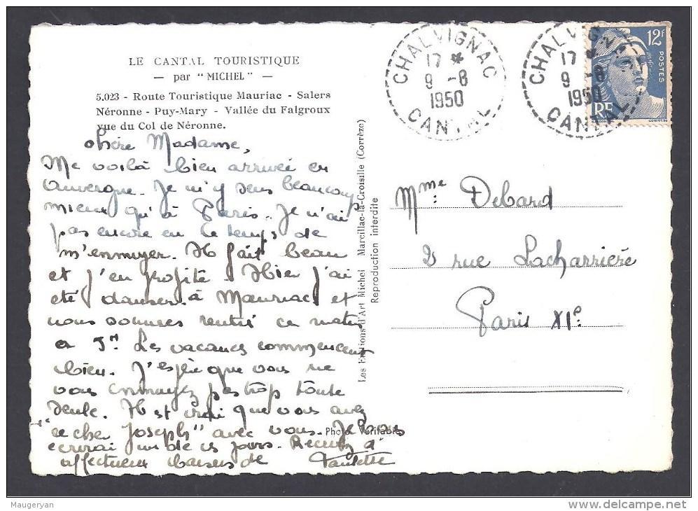 CANTAL - Cachet Pointillé De  CHALVIGNAC - Postmark Collection (Covers)