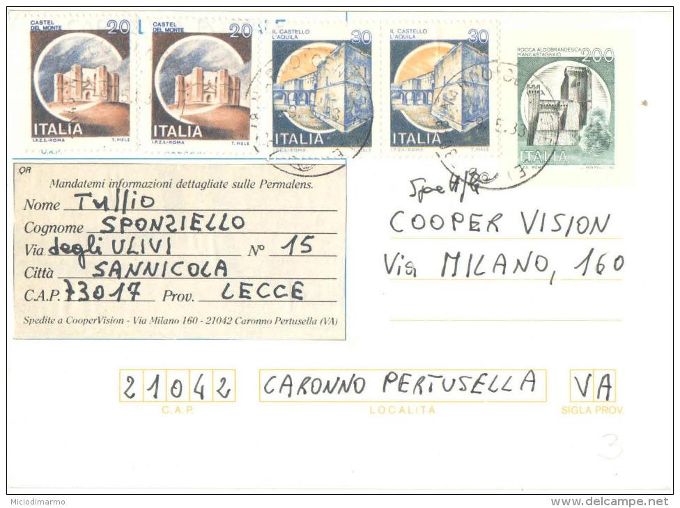 J553) ITALIA CARTOLINA POSTALE CASTELLI LIRE 200 DEL 1981 VIAGGIATA - Interi Postali
