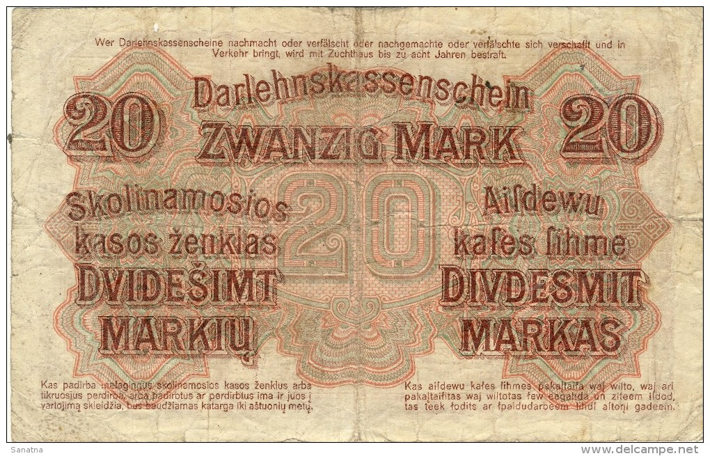 20 Mark Kowno 1918 - Lituanie