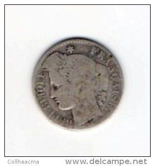 France 3éme République Cérès Oudiné  50 Centimes 1871 K Argent / état B Sans Plus ! - G. 50 Centesimi