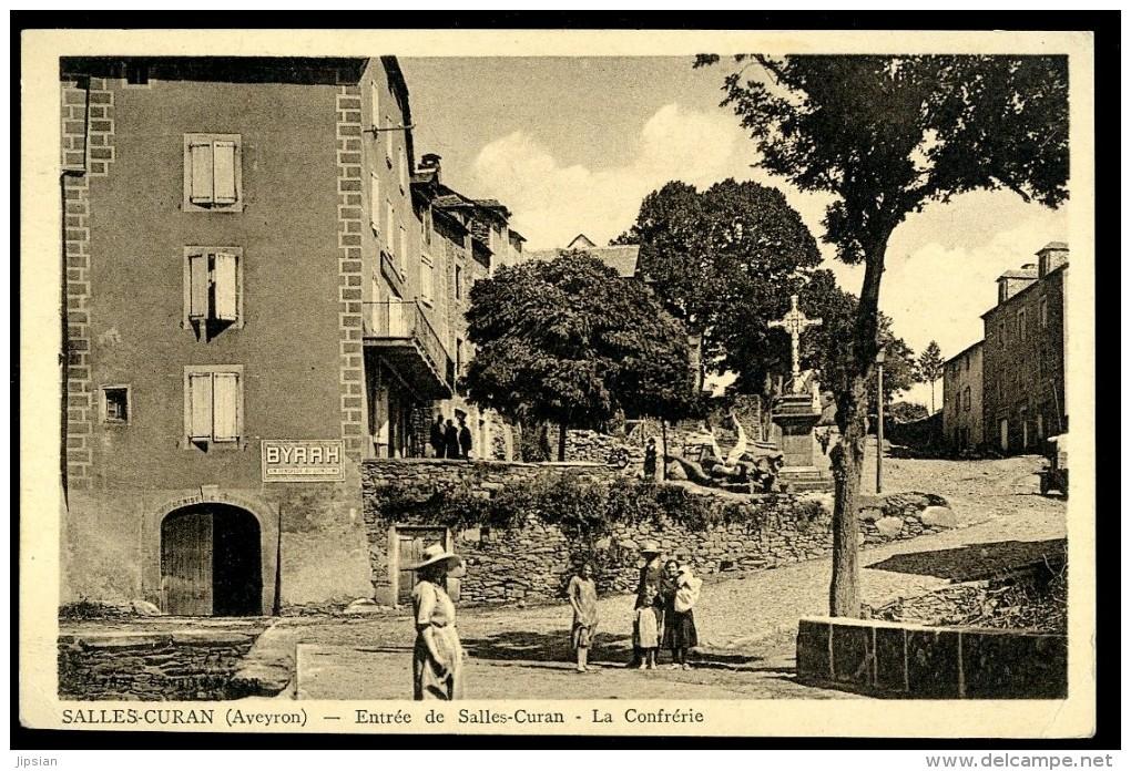 Cpa Du 12 Salles Curan Entrée De Salles Curan , La Confrérie    ...  Millau  JUI9 - Millau