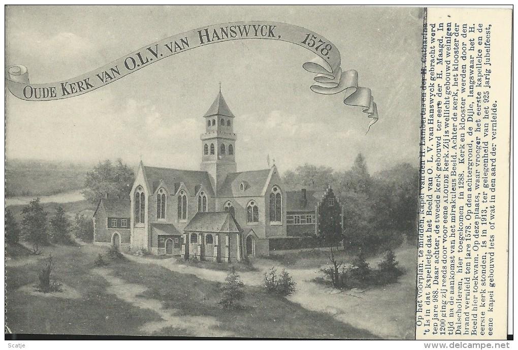 Mechelen.  -  Oude Kerk Van O.L.V. Van Hanswyck - Mechelen