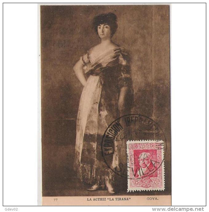PTRTP0710C-LFTD4617TPROAC. Tarjeta Postal De España.Pintura.La Actriz LA TIRANA De GOYA.( Museo De EL  PRADO) - Profesiones