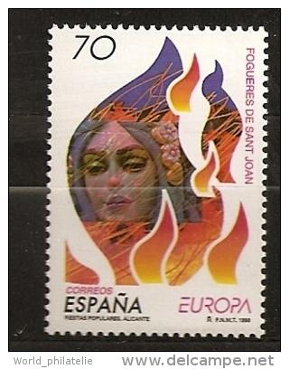 Espagne Espana 1998 N° 3117 ** Europa, Festival, Fête, Alicante, Feux De La Saint-Jean, Incendie, Pompier, Défilé - 1931-Aujourd'hui: II. République - ....Juan Carlos I