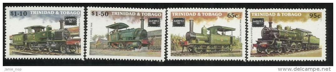 Trinidad & Tobago 1986 Locomotives Ameripex MNH - Trinidad & Tobago (1962-...)